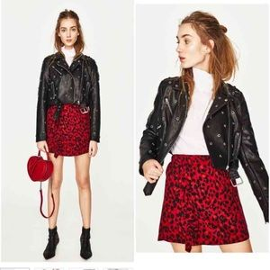 Zara Faux Leather Jacket with metal stars!
